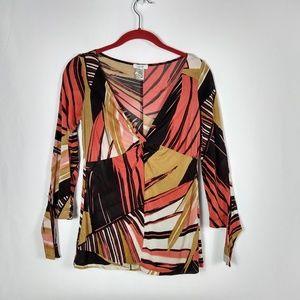 Cache Women's  Knit Top Blouse Size S Slinky